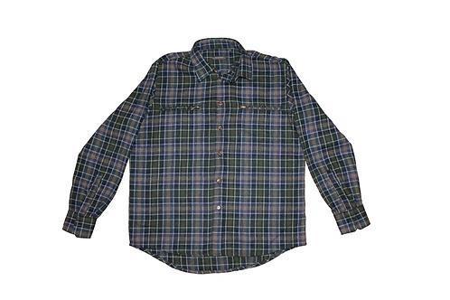 Vintage Green Wool Flannel Shirt