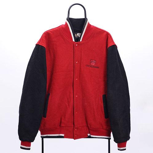 Vintage Red Dodge Varsity Jacket