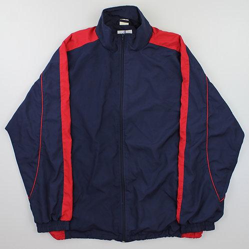 Vintage 90s Navy and Red Windbreaker Jacket