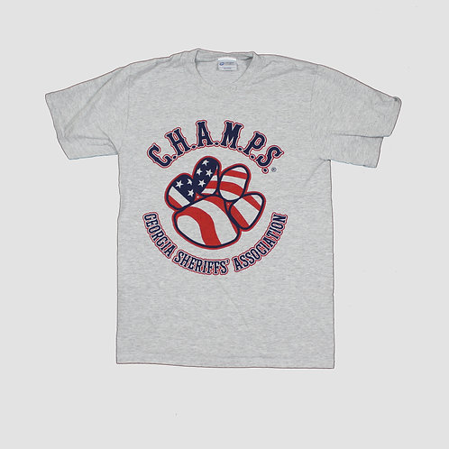 Vintage Grey 'CHAMPS' T-Shirt