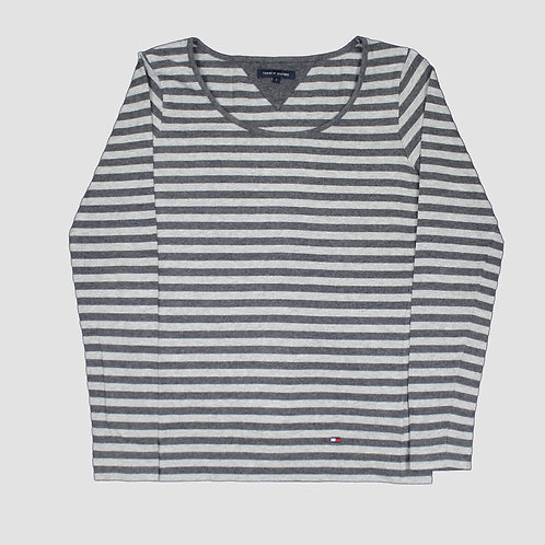 Tommy Hilfiger Grey Striped Top