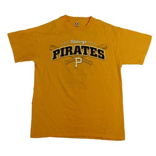 Majestic 'Pittsburgh Pirates' MLB Yellow T-shirt