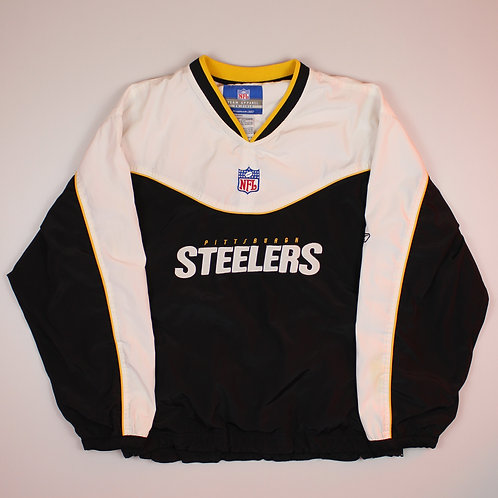 NFL 'Steelers' Black & White Tracksuit Top
