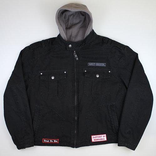 Harley Davidson Black Jacket With Removable Gilet