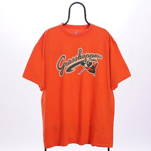 Majestic Vintage Orange Grasshoppers TShirt