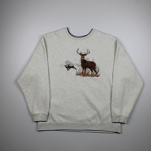 Vintage 'Deer' Grey Sweater
