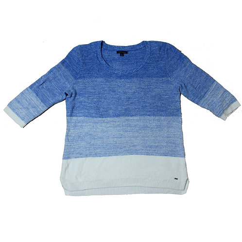 Tommy Hilfiger White & Blue Knitted Sweater