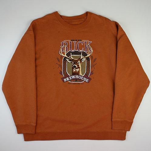 Vintage 'Big Buck' Brown Sweatshirt