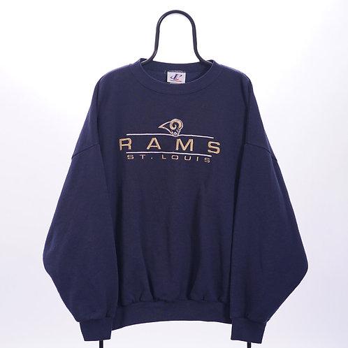 Logo Athletic NFL Vintage Navy St Louis Rams Sweatshirt
