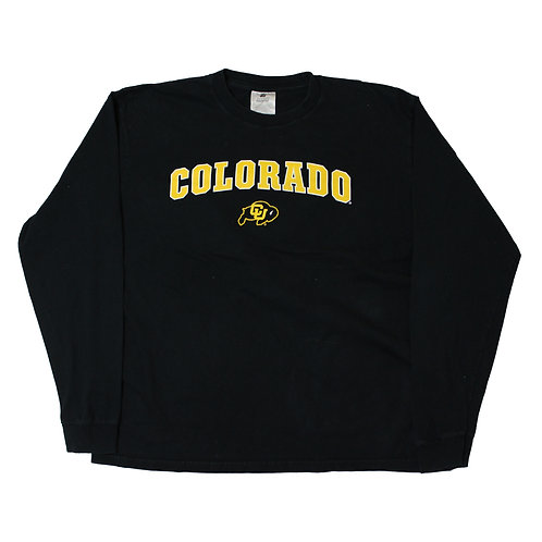 Vintage 'Colorado' Black Long Sleeved T-shirt