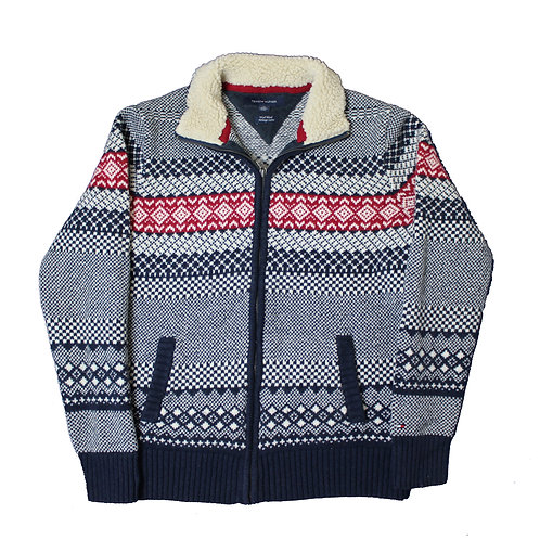 Tommy Hilfiger Patterned  Zip Up Sweater