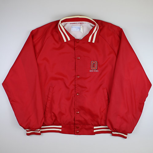 Vintage Red 'Ohio State' Varsity Jacket
