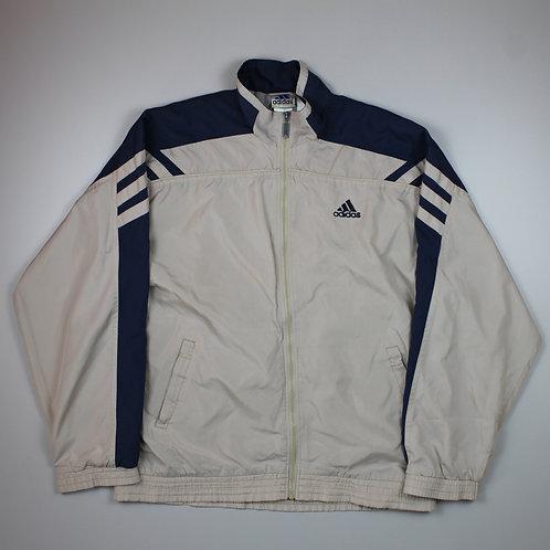 Adidas Beige & Navy Tracksuit Top