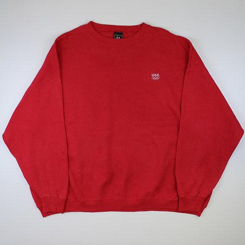 Vintage Red 'USA Olympic' Sweatshirt
