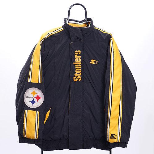 Starter NFL Vintage Pittsburgh Steelers Black Coat