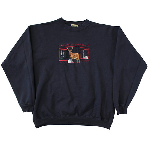 Vintage 'Field & Stream' Navy Sweater