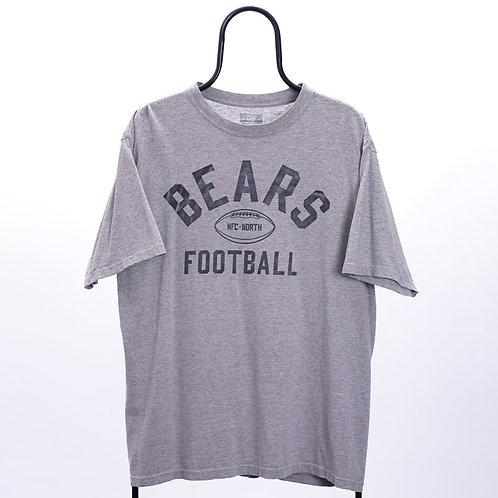 Reebok Vintage Grey Bears Football TShirt