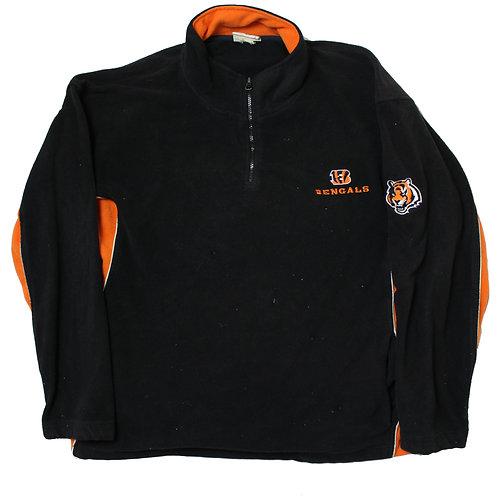 NFL Bengals Black & Orange Fleece