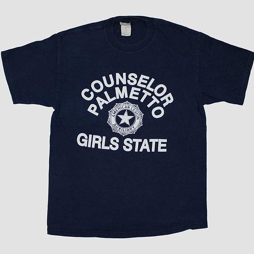 Vintage 'Girls State' Navy T-shirt