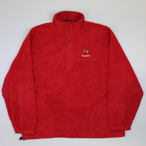 Vintage 'Louisville Cardinals' Red Fleece
