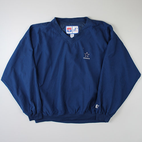 Logo Athletic Navy Dallas Cowboys Tracksuit Top