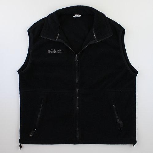 Columbia Vintage Black Fleeced Gilet