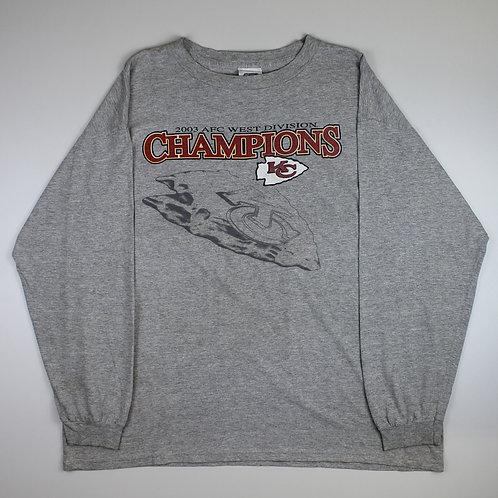 Vintage Grey Kansas City Chiefs T-Shirt