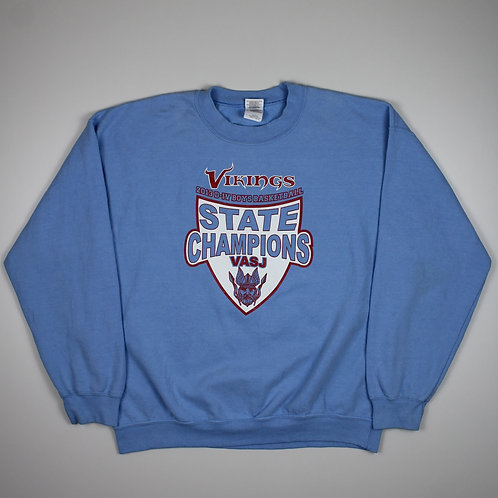 Vintage 'Vikings State Champs' Blue Sweater