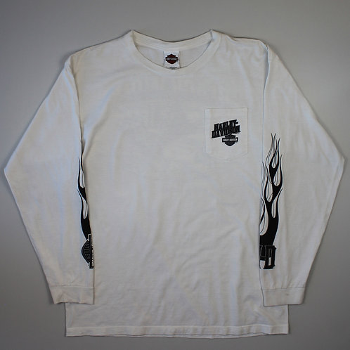 Harley Davidson White Long Sleeved T-Shirt