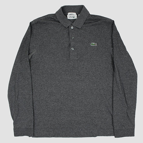 Lacoste Grey Long Sleeved Polo