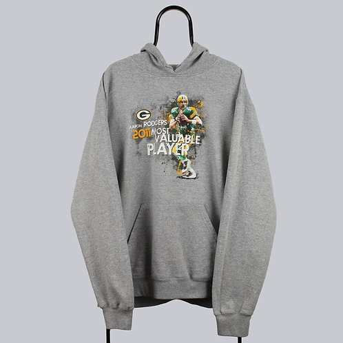 Reebok NFL Green Pay Packers Grey Hoodie