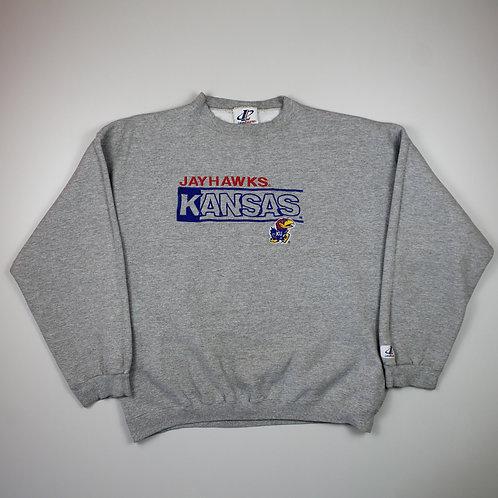 Logo Athletic 'Kansas Jayhawks' Grey Sweater