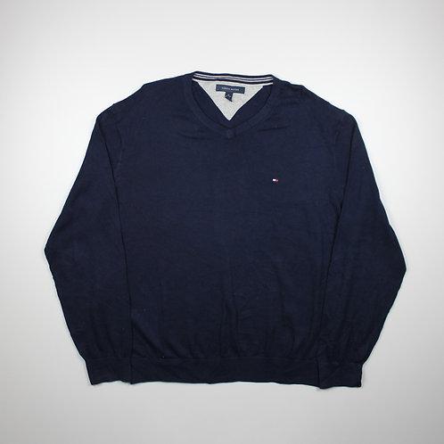 Tommy Hilfiger Navy V-neck Sweater