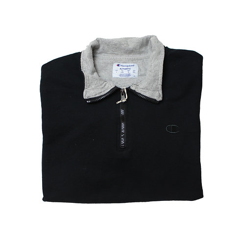 Champion Black 1/4 Zip Sweater