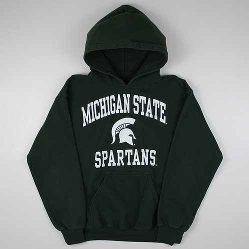 Vintage Green Michigan Spartans Hoodie