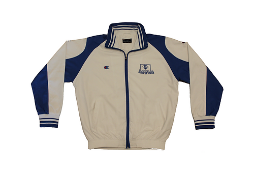 Champion White & Blue Basketball Tracksuit Top