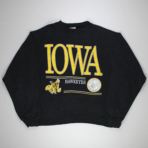 Vintage Black 'Iowa Hawkeyes' Sweatshirt