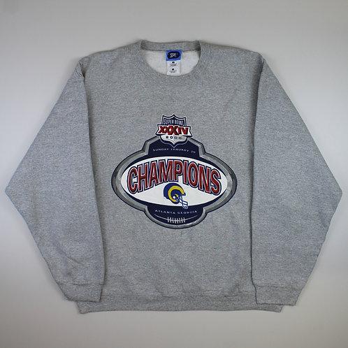 Vintage Grey 'Super Bowl 2000' Sweatshirt