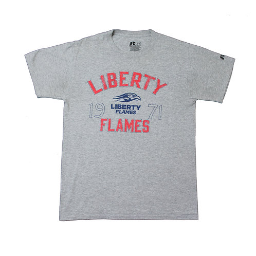 Russell Athletic  'Liberty Flames' Grey T-shirt