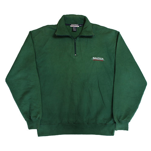 Nautica Competition Green 1/4 Zip Sweater