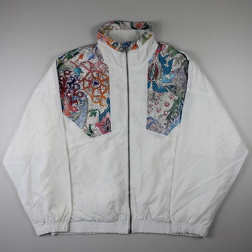 Vintage White Pattern Tracksuit Top
