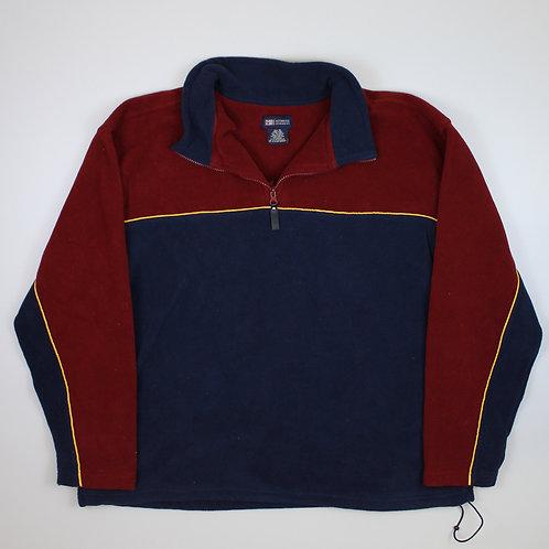 Vintage Maroon & Navy Fleece