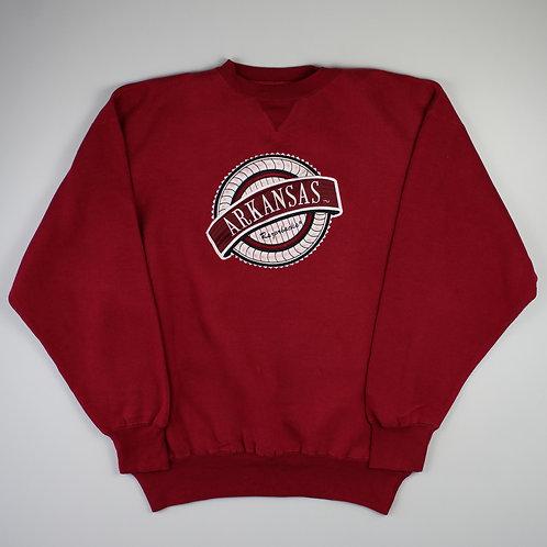Vintage 'Arkansas' Maroon Sweatshirt