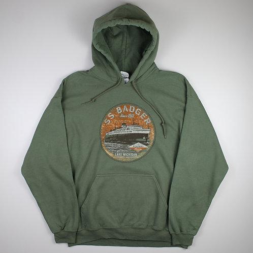 Vintage Green 'SS Badger' Hoodie