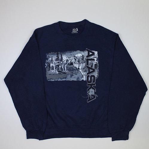 Vintage 'Alaska' Navy Sweater