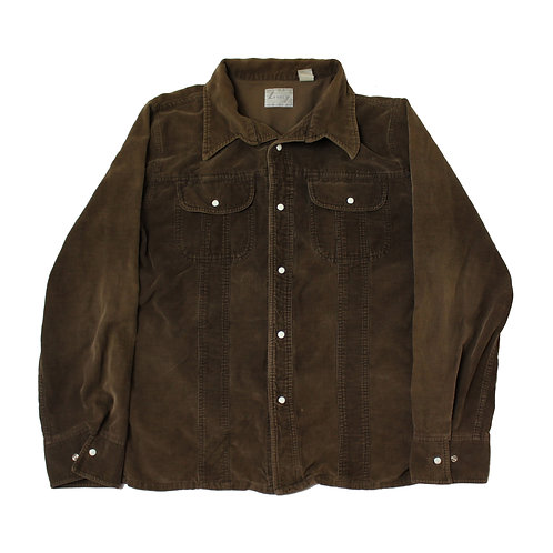 Vintage Brown Corduroy Shirt