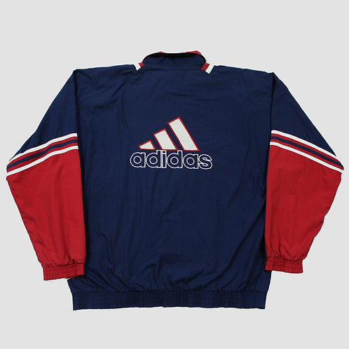 Adidas Navy & Red Spellout Tracksuit Top