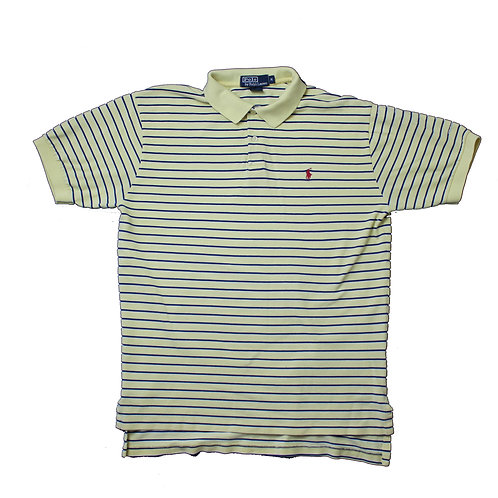 Ralph Lauren Striped Yellow Polo