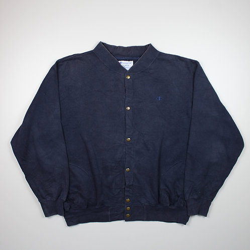 Champion Button Up Navy Sweater