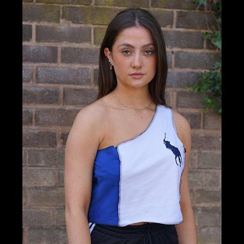 Reworked Vintage Asymetric Patchwork Colourblock Ralph Lauren Vest